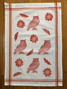 Tea Towels - Owl and Flowers