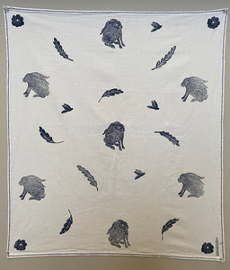 Tea Towel  - Woodland Rabbits