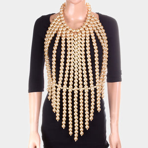 Glamorous Pearl Body Necklace