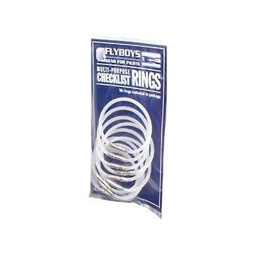 Flyboys Flexi-Lock Checklist Ring 10 Pack - White-FlyBoys-Downunder Pilot Shop