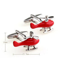 Red Helicopter Cufflinks-Signature Aviation Jewellery-Downunder Pilot Shop