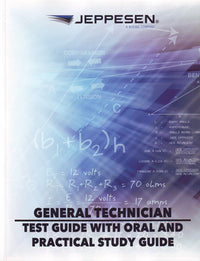 Jeppesen A & P Technician General Test Guide with Oral and Practical Study Guide - JS312750-Jeppesen-Downunder Pilot Shop