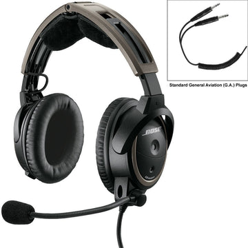 NON-Bluetooth Bose A20 Aviation Headset GA, Coiled Cord (Special Order) + FREE Bose SoundLink