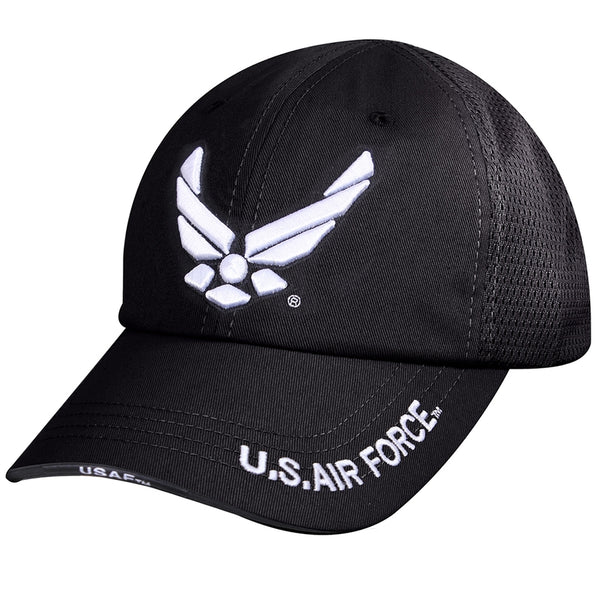 Rothco Mesh Black Tactical US Airforce Wing Cap-Rothco-Downunder Pilot Shop