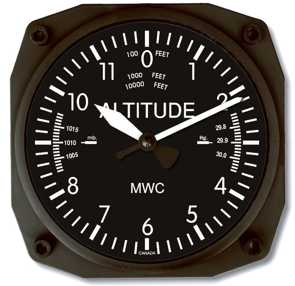 Trintec Altimeter Wall Clock-Trintec-Downunder Pilot Shop
