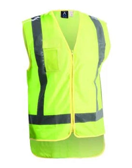 High Vis Zip Vest - Yellow