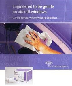 Dupont Sontara Aircraft Window Wipes pack of 25