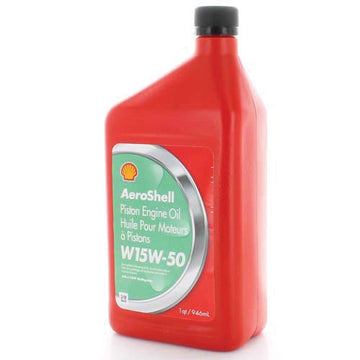 AeroShell W15W-50 Piston Engine Oil - 1 Quart