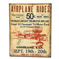 Airplane Rides - Tin Sign