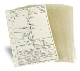Jeppesen AM621164 Airway Manual Approach Chart Protector 10 Pack