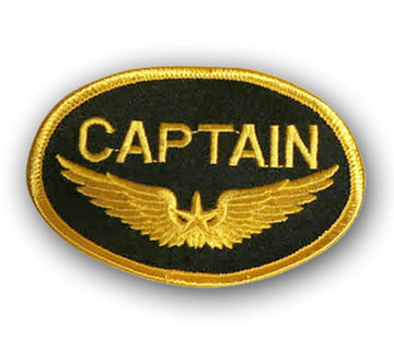 Captain Iron-On Badge
