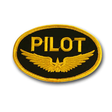 Pilot Iron-On Badge