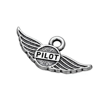 Antique Pilot Wings Charm