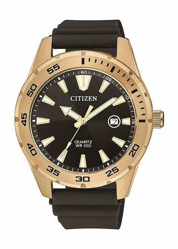 Citizen Men's Stainless Steel Quartz Watch BI1043-01E - Black and Gold