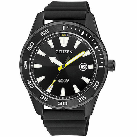 Citizen Men's Stainless Steel Quartz Watch BI1045-13E - Black-Citizen-Downunder Pilot Shop