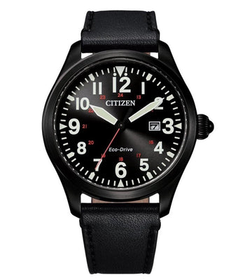 Citizen Eco-Drive Black Leather Watch - BM6835-23E