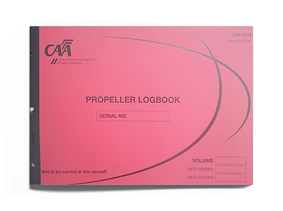 CAA 2110 Propeller Logbook-CAA-Downunder Pilot Shop