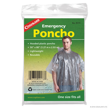 Coghlans Emergency Poncho (clear)