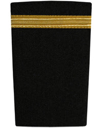 Epaulettes One Bar Gold on Black-Downunder-Downunder Pilot Shop