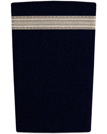 Epaulettes One Bar Silver on Navy