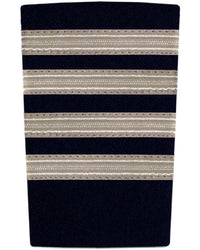 Epaulettes Four Bar Silver on Navy-Downunder-Downunder Pilot Shop