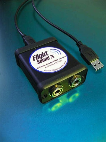 Flight Sound X Headset to USB Adapter