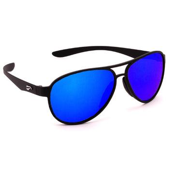 Flying Eyes Kestrel Aviator - Matte Black - Mirrored Sapphire