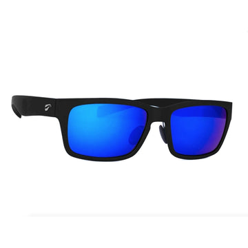 Flying Eyes Kingfisher - Matte Black Frame Mirrored Sapphire Lens