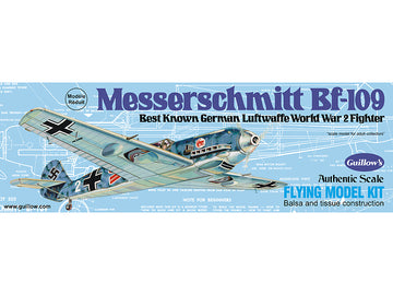 Guillows Messerschmitt BF-109 Rubber-Powered Balsa Model Kit
