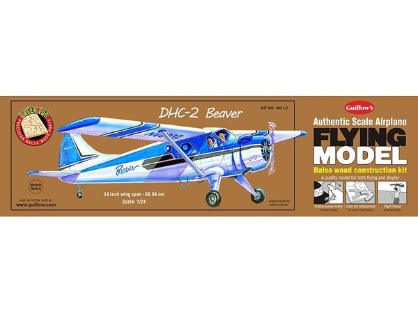 Guillows DHC-2 Beaver Rubber-Powered Balsa Model Kit-Guillows-Downunder Pilot Shop
