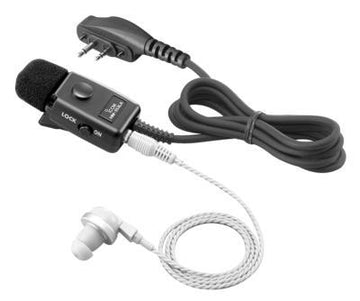 ICOM Durable Earphone Microphone with Screw Type Connector