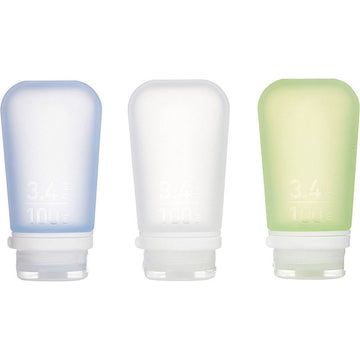 Humangear GoToob Travel Bottles 3-Pack - Large (Coloured)