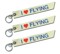 I Love Flying Keychain