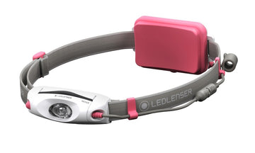 LED Lenser NEO6R Rechargeable LED Head Torch - Pink