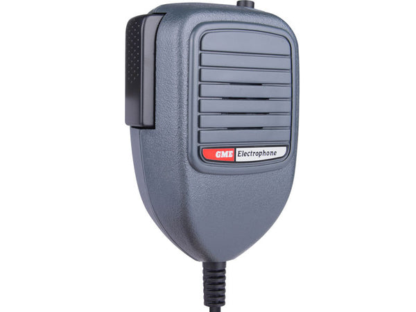 GME Electret Mic with Telephone Plug & CH8 button Grey-GME-Downunder Pilot Shop