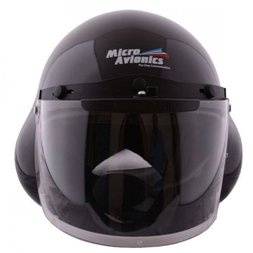 MicroAvionics Integrated GA Headset in Black Helmet