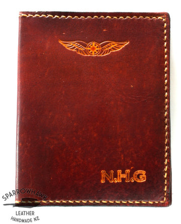 Sparrowhawk (New Zealand) Pilot's Licence & Medical Certificate Wallet - Brown