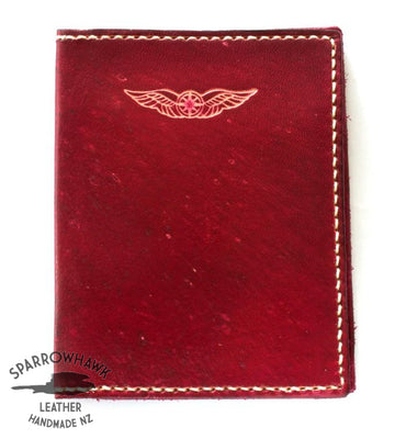 Sparrowhawk (New Zealand) Pilot's Licence & Medical Certificate Wallet - Raspberry