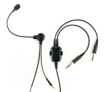 NFlightMic Nomad Pro Aviation Microphone GA Twin Plugs