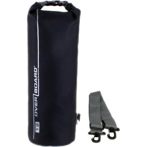 Overboard Waterproof Dry Tube Bag, 12 Liter Black-Overboard-Downunder Pilot Shop