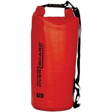 Overboard Waterproof Dry Tube Bag, 12 Liter Red