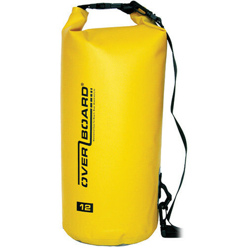 Overboard Waterproof Dry Tube Bag, 12 Liter Yellow-Overboard-Downunder Pilot Shop