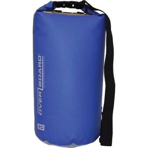 Overboard Waterproof Dry Tube Bag (20L, Blue)-Overboard-Downunder Pilot Shop