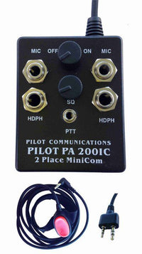 Pilot PA200-IC Portable Intercom-Pilot Communications-Downunder Pilot Shop