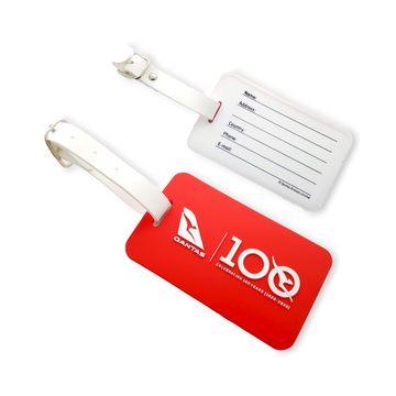 Qantas 100 Years Red Luggage Tag