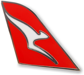 Qantas Tail Fin Logo Pin
