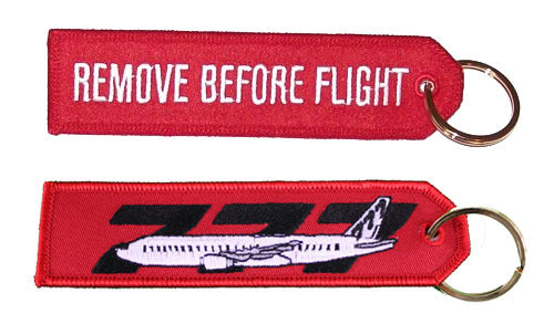 Remove Before Flight - Boeing 777 Keychain-Aviation Collectables-Downunder Pilot Shop