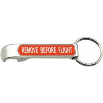 Remove Before Flight Bottle Opener Keychain