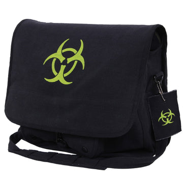 Rothco Bio-hazard Vintage Canvas Messenger Bag - Black