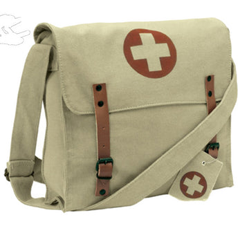 Rothco Vintage Medic Canvas Bag With Cross - Khaki